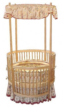 A beautiful round crib with its traditional turned spindles on all sides and the canopy corner posts. It features a drop side rail as well as three adjusts ...  sc 1 st  Sams Baby Care & Sams Baby Care - Baby Needs